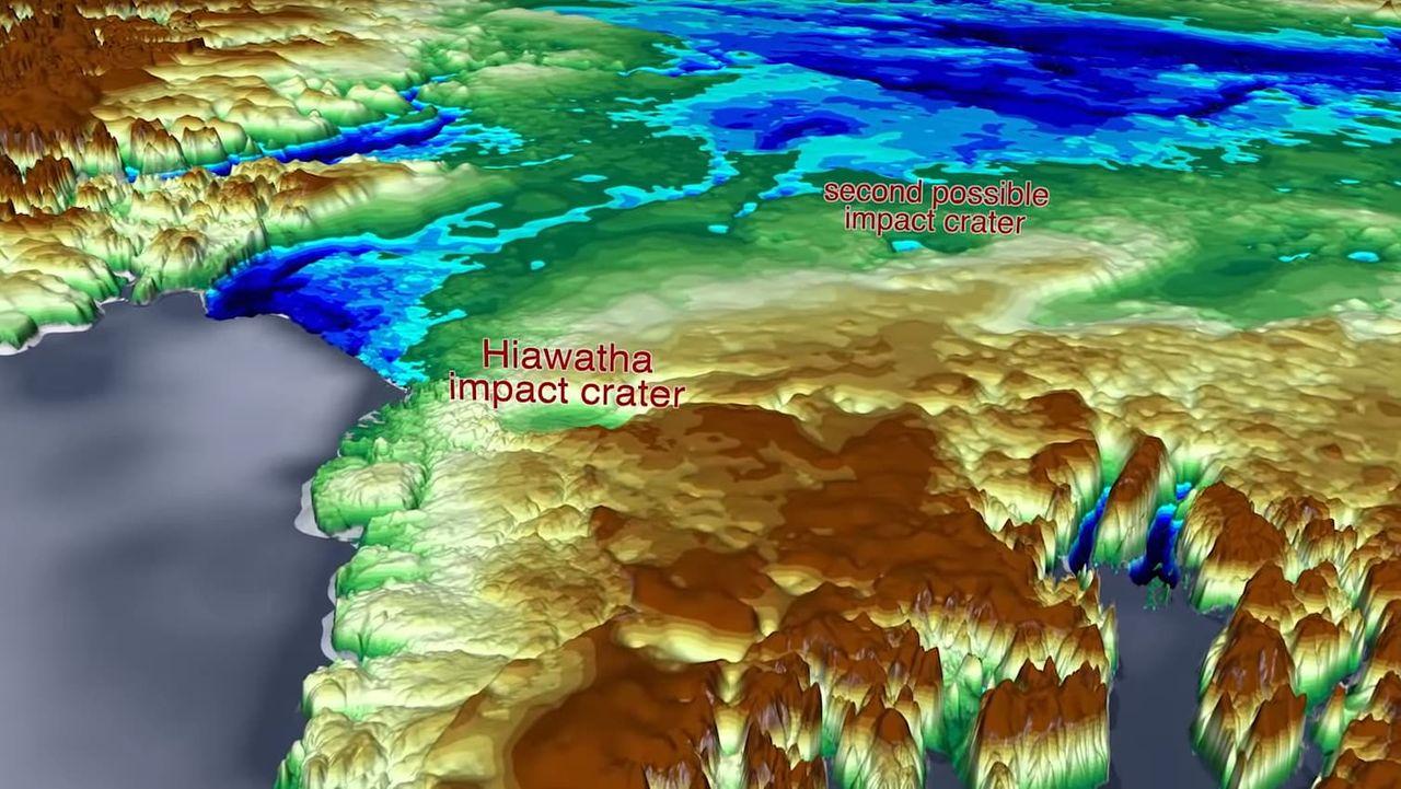 NASA hittar ännu en jättekrater under isen på Grönland