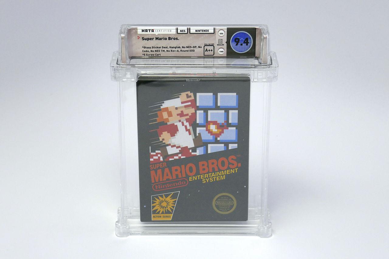 Super Mario Bros. med sluten förpackning säljs för 100.150 dollar