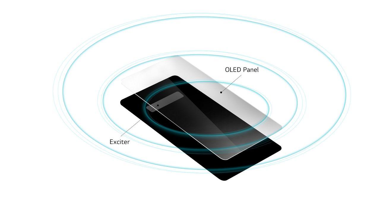 LG G8 ThinQ kör ljud genom skärmen