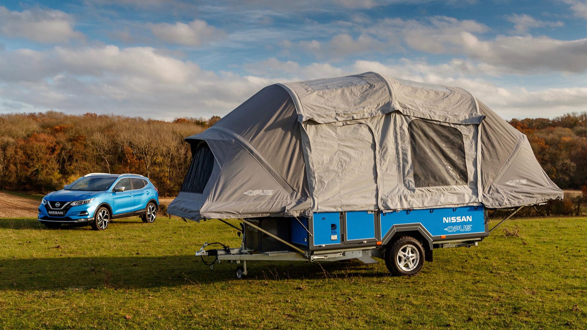 Gamla Nissan Leaf-batterier håller igång campingvagn