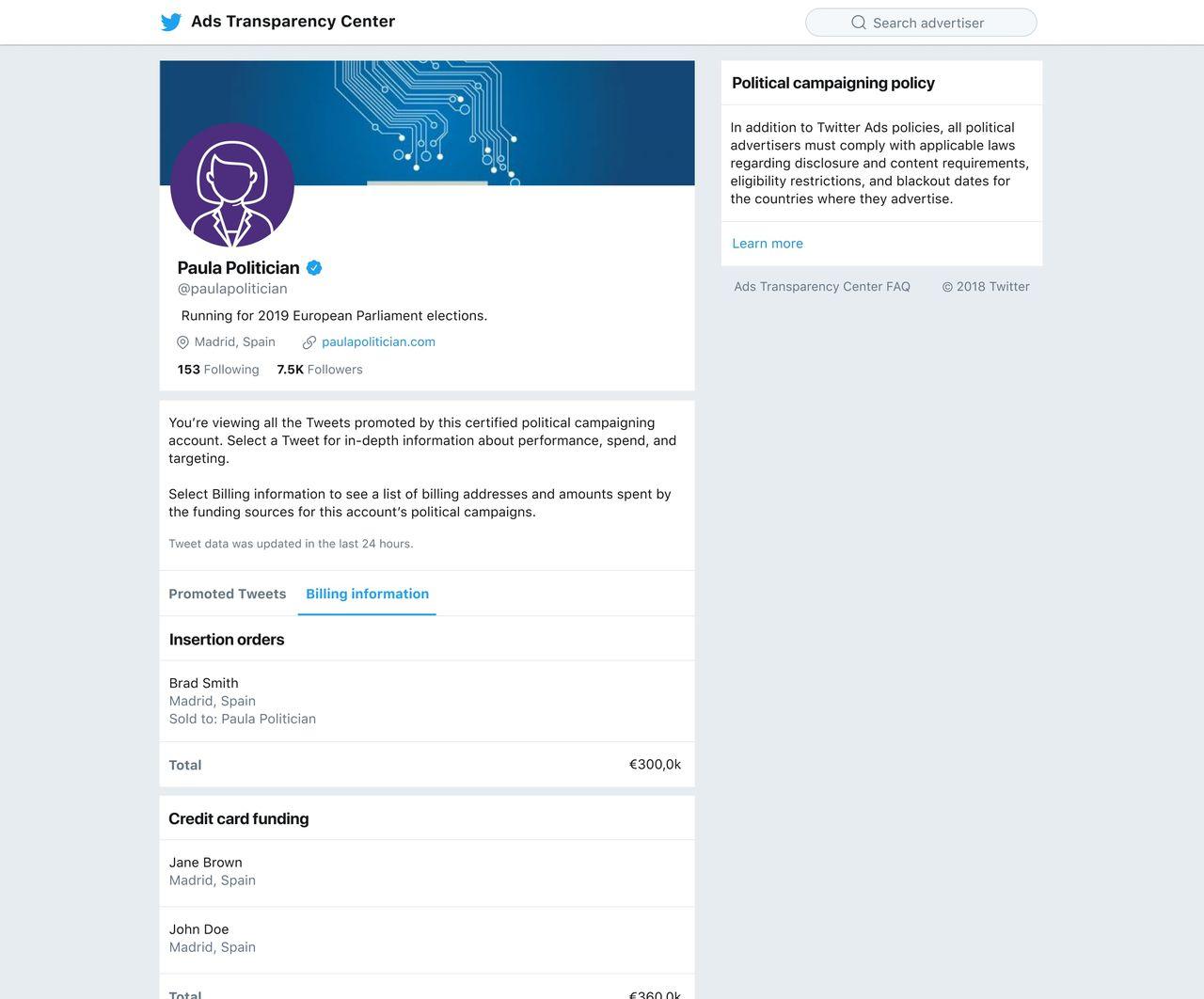 Twitter släpper verktyg för att spåra politiska annonser