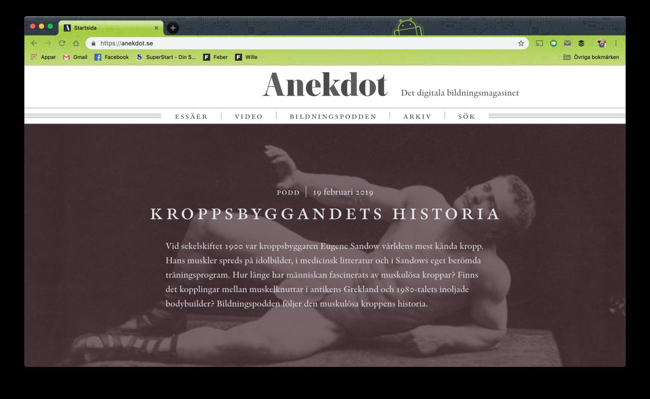 Premiär för Anekdot.se