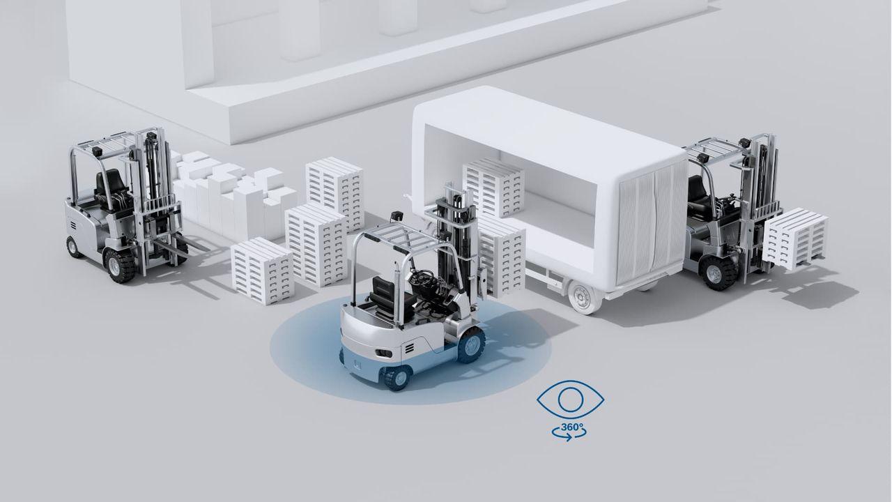 Bosch tar fram nytt kamerasystem till gaffeltruckar