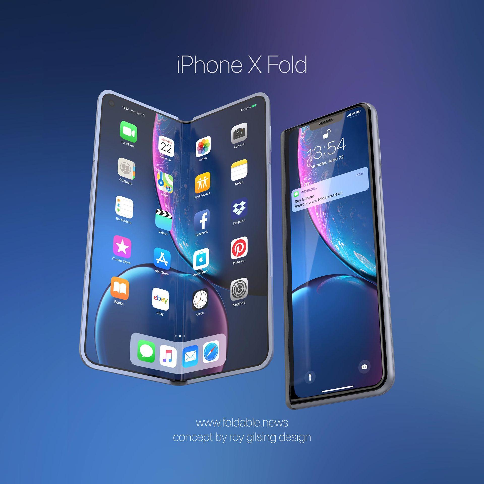 Så här skulle en iPhone X Fold kunna se ut
