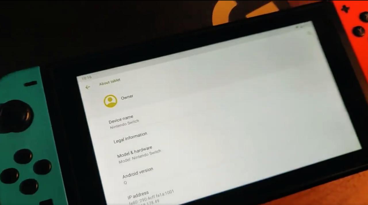 Android portat till Nintendo Switch