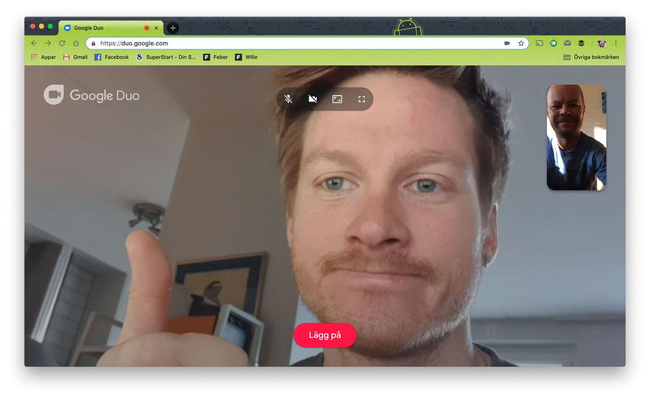 Google Duo nu tillgängligt i webbläsaren