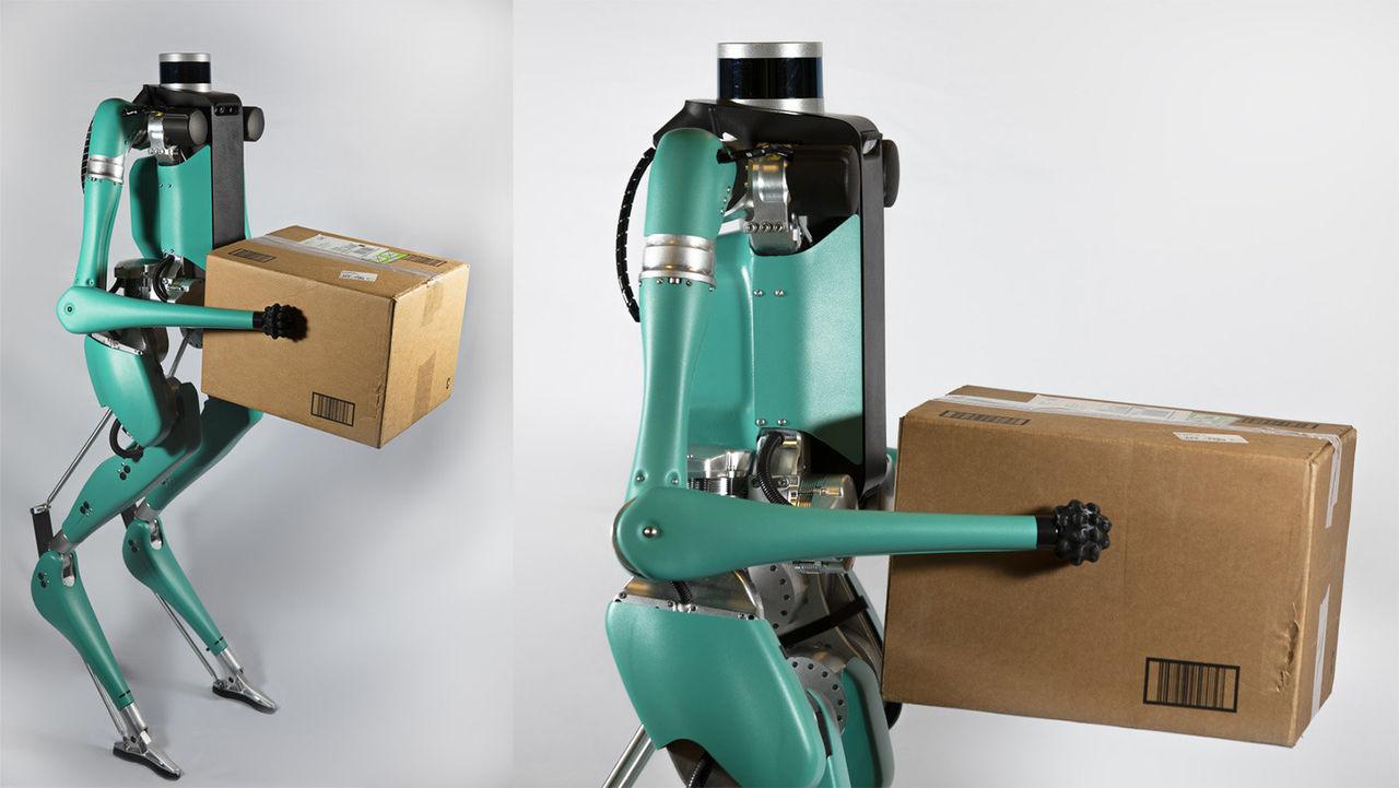 Roboten Digit knallar runt på två ben