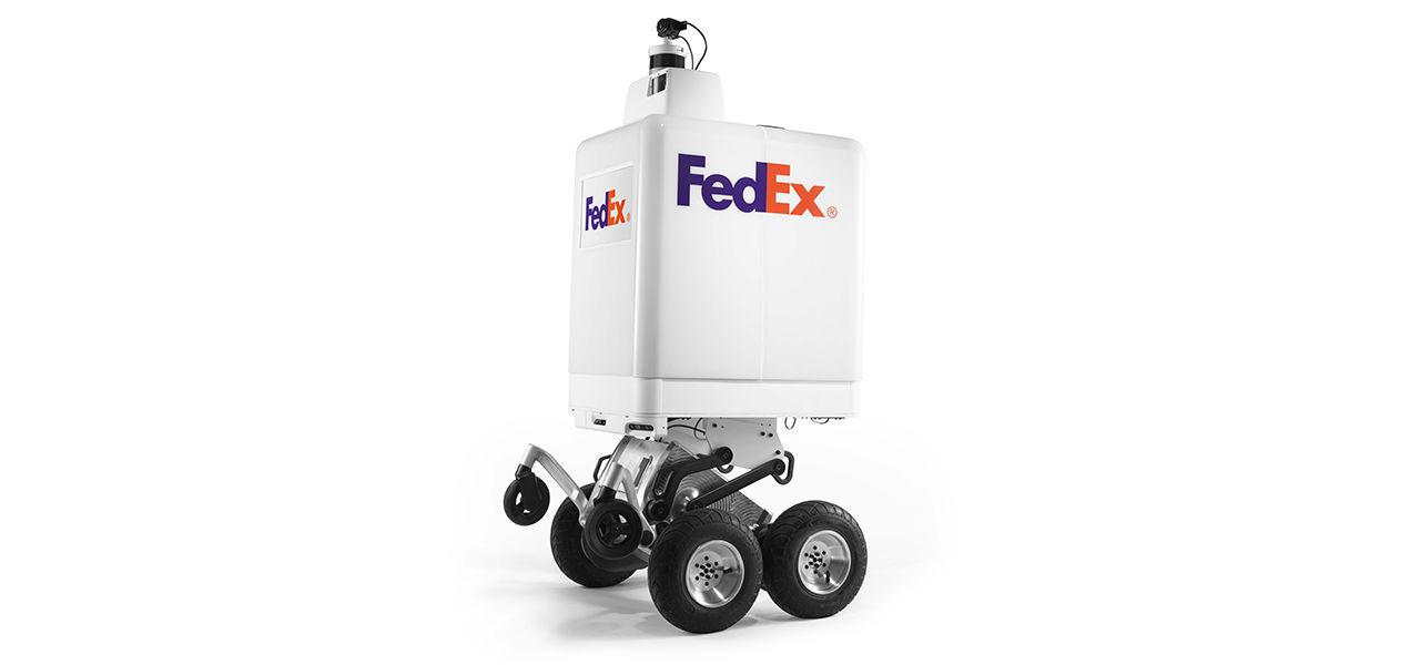 FedEx visar upp leveransrobot