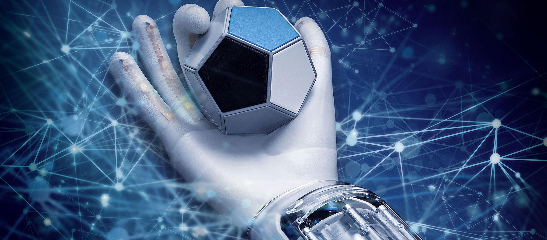Festo visar robothand med inbyggd artificiell intelligens