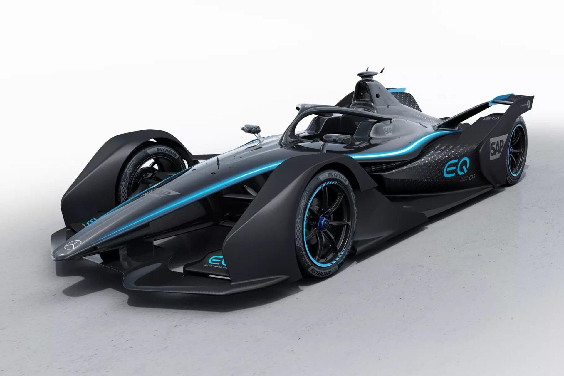 Mercedes-Benz har visat upp sin första elektriska racerbil
