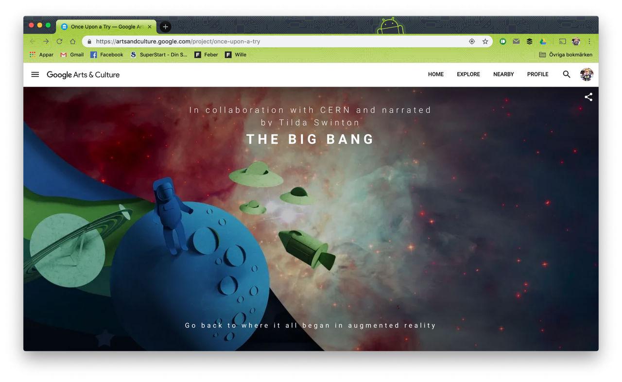 Google lanserar utställningen Once Upon a Try
