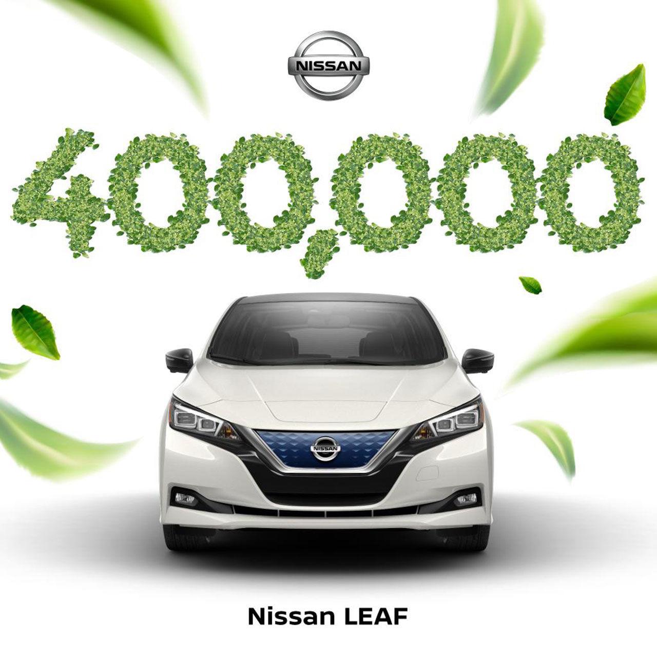 Nissan har nu tillverkat över 400.000 stycken Leaf