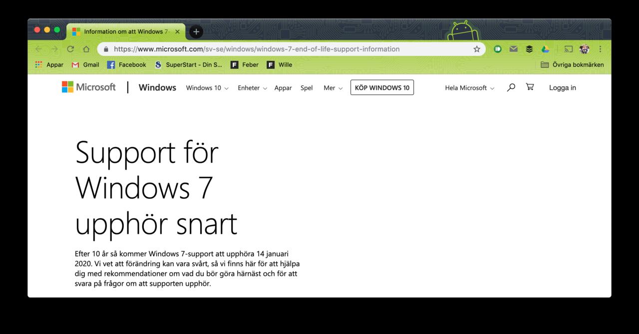 Microsoft börjar påminna Windows 7-användare att slutet är nära