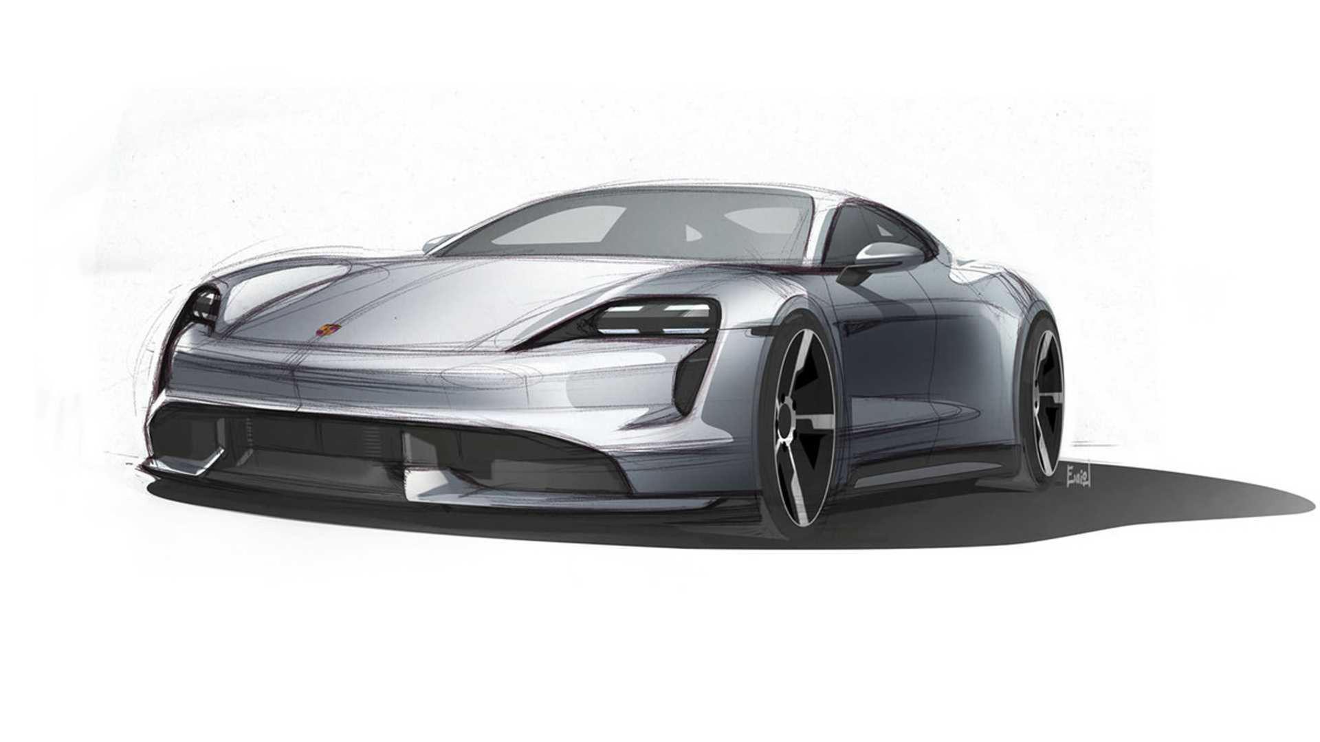 Nya skisser på Porsche Taycan