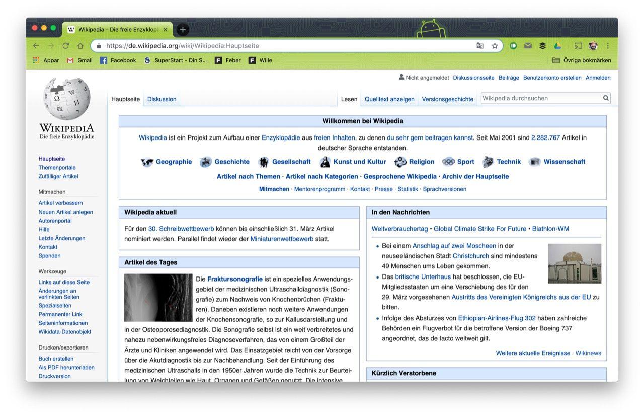 Tyska Wikipedia stänger ner tjänsten ett dygn
