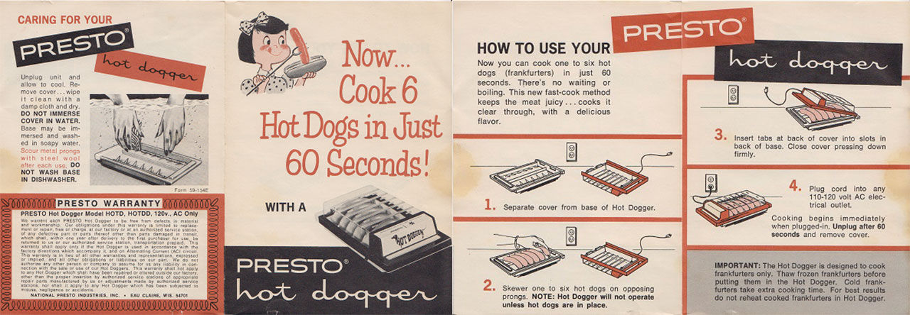 Presto hot dogger med lite för mycket effekt