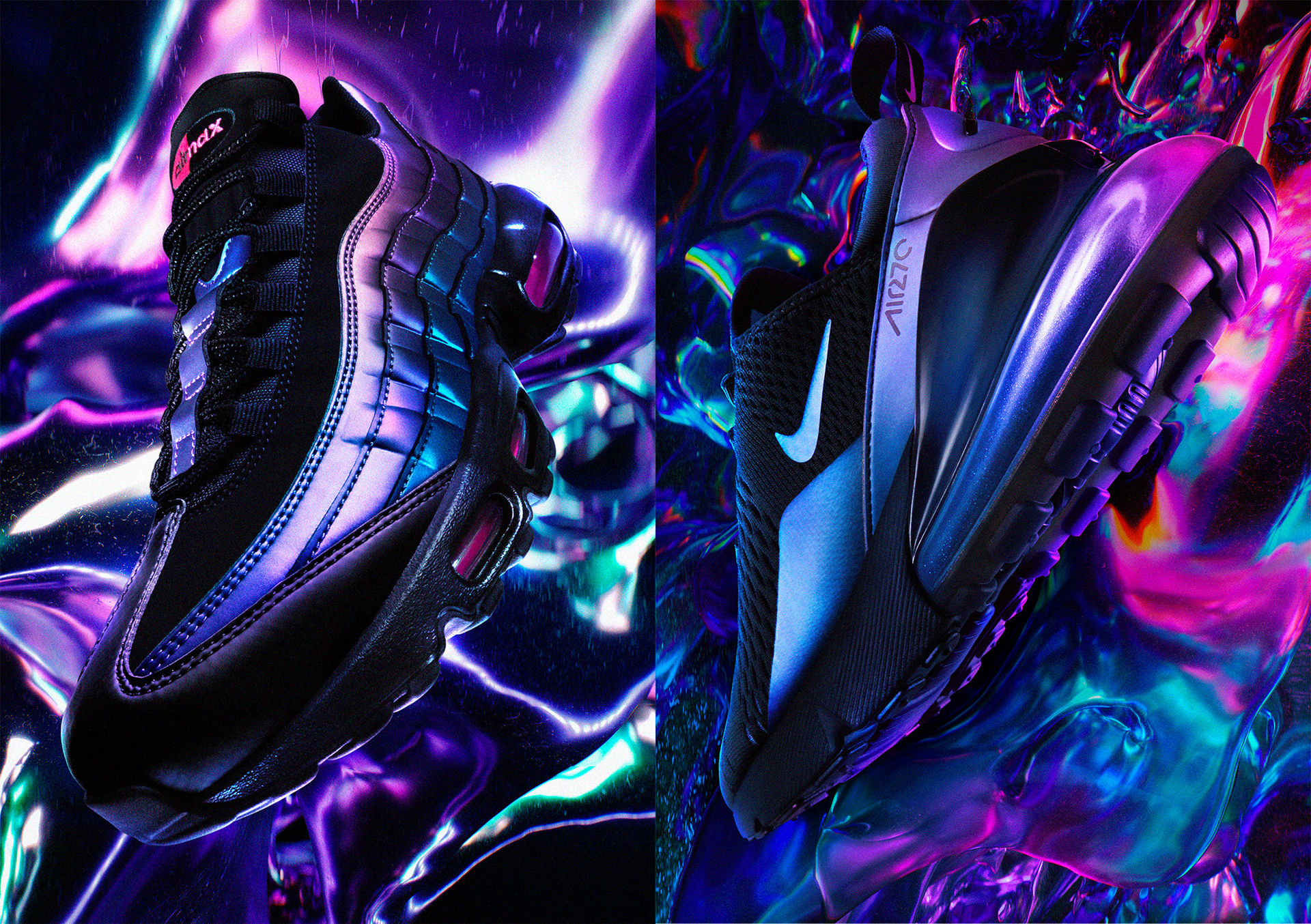 Nike Air Max i skimrande futuristiska färger