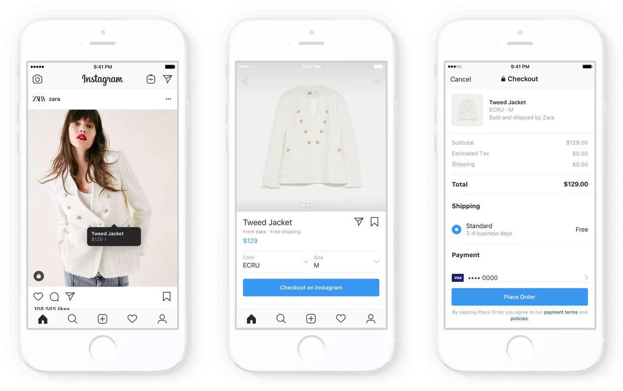 Nu kan du köpa grejer direkt i ditt Instagram-flöde