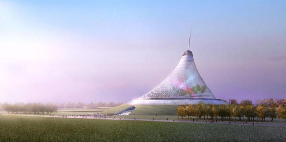 Kazakstans huvudstad byggs in i ett tält