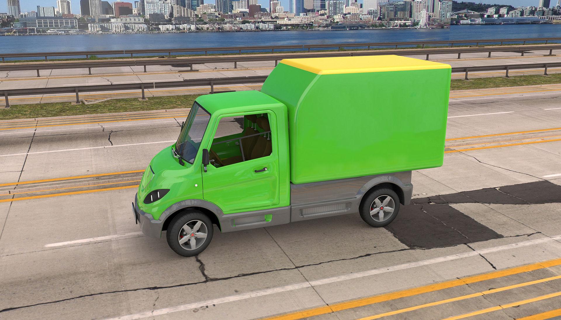 Ny eldriven liten lastbil från Sverige