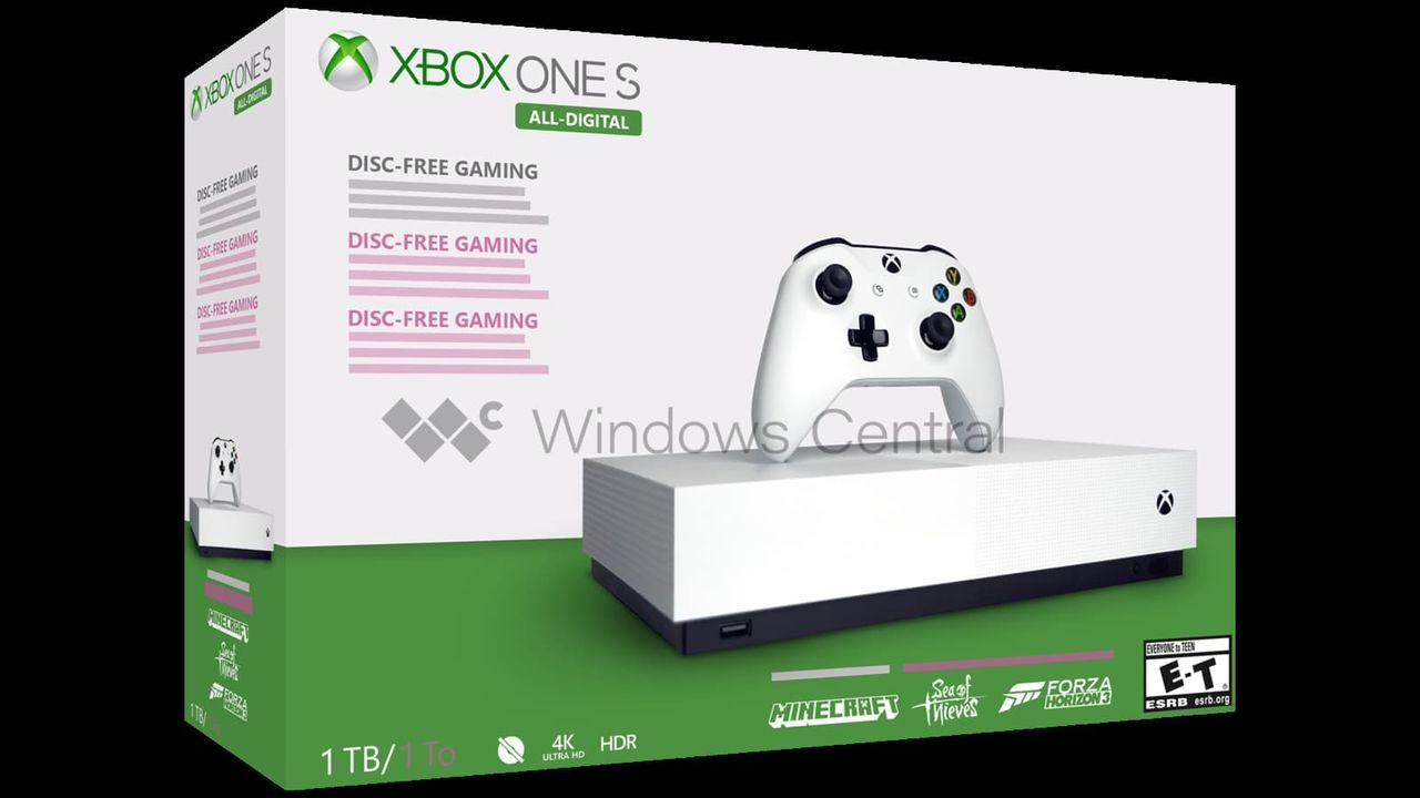 Xbox One S All-Digital släpps antagligen 7 maj