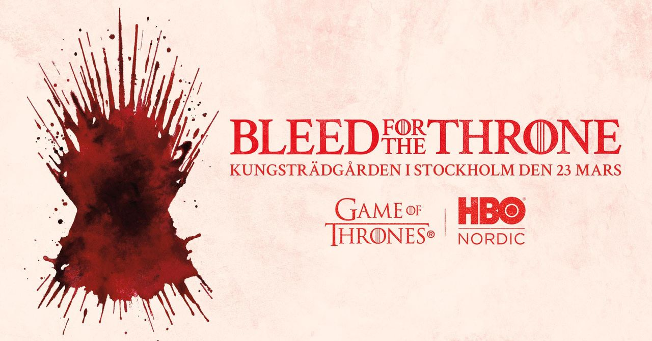 I morgon kan du blöda för järntronen i Stockholm