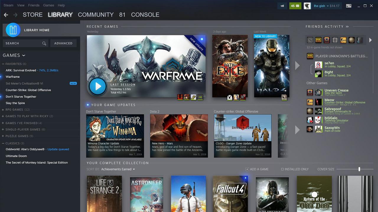 Valve visar upp ny design av Steam-biblioteket