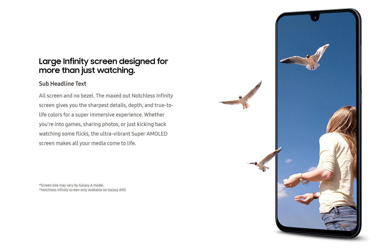 Samsung Galaxy A90 verkar komma med flärplös Infinity Screen