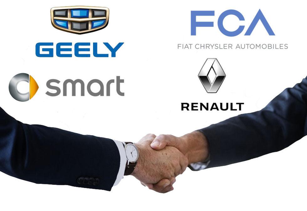 Ska Geely köpa halva Smart av Daimler?