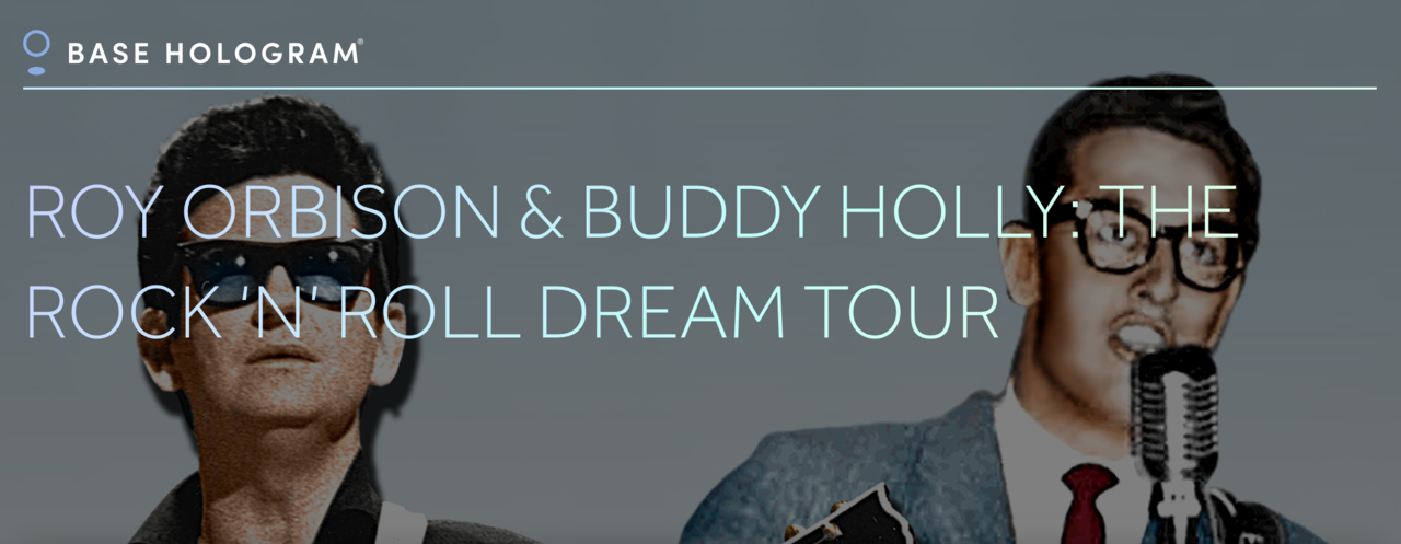 Roy Orbison och Buddy Holly ger sig ut på hologram-turné