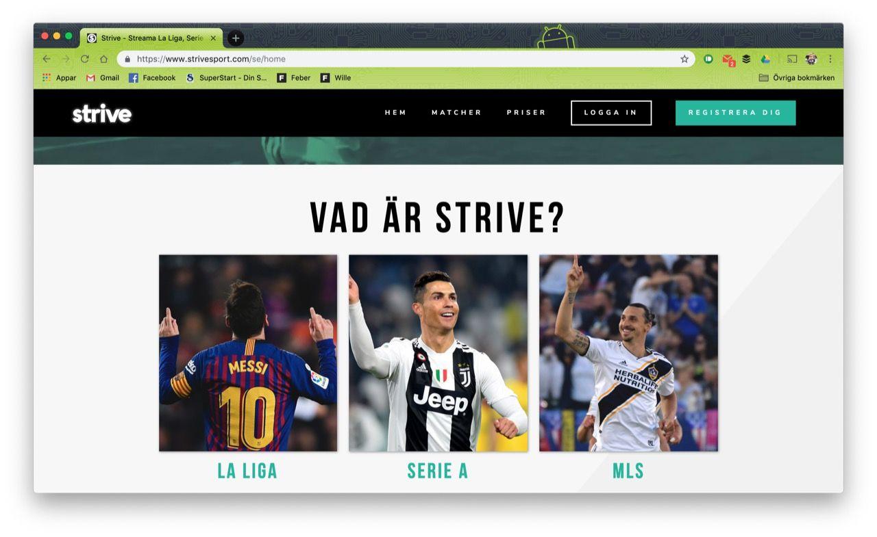 Strive Sport TV är en ny tv-kanal för livesänd sport