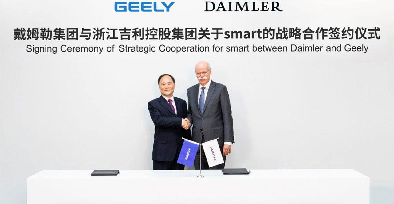 Geely blir delägare i Smart