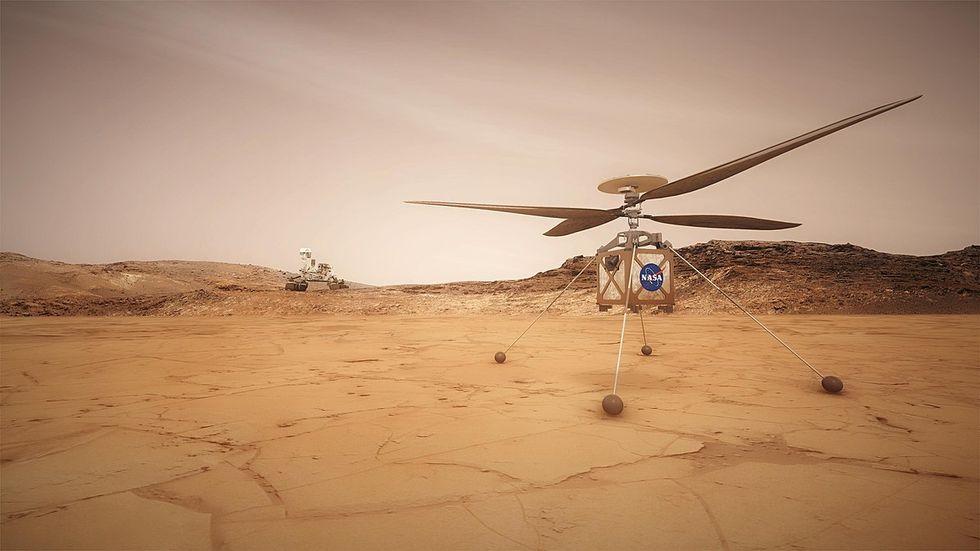 NASA har testflugit sin Mars-helikopter