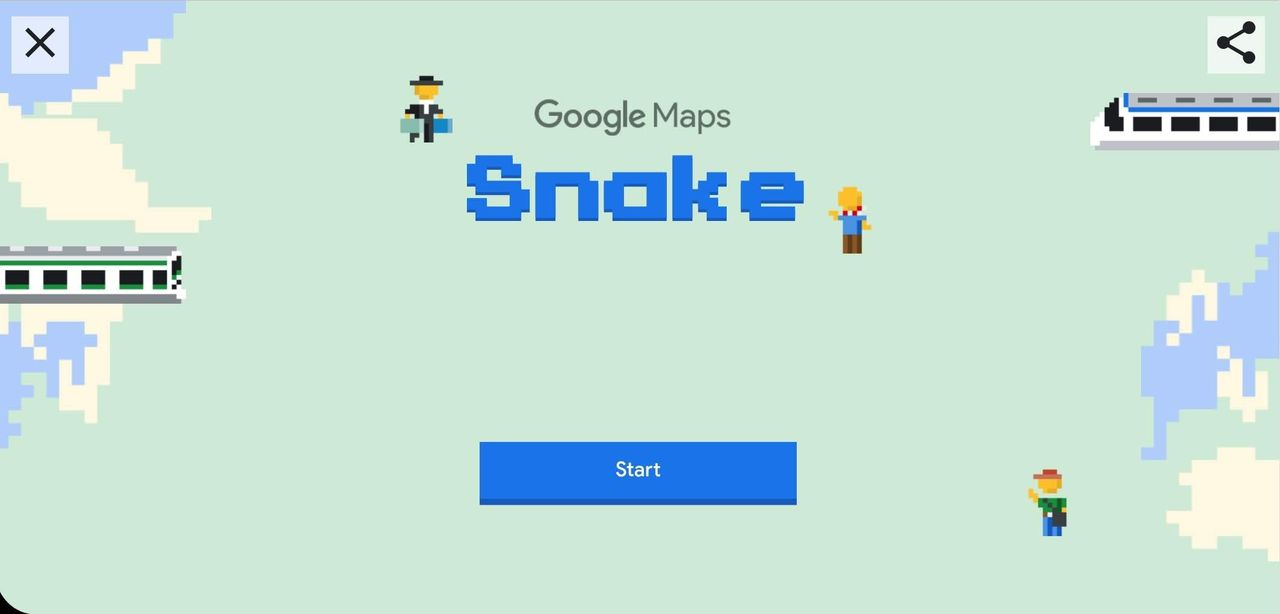Google slänger in Snake i Google Maps