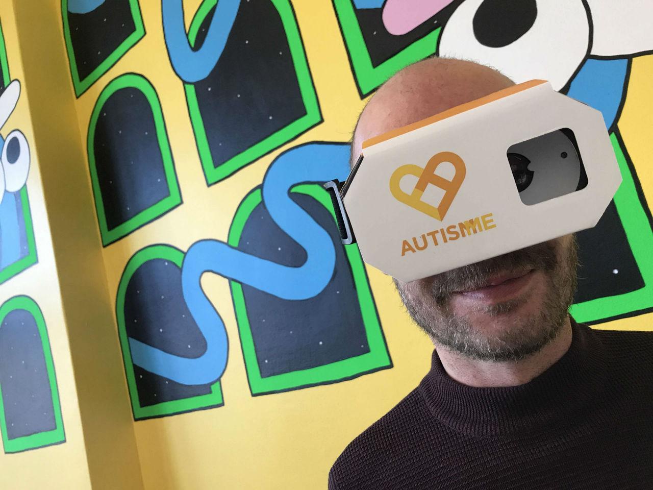 VR-appen Autism Me visar en autistisk persons omvärld