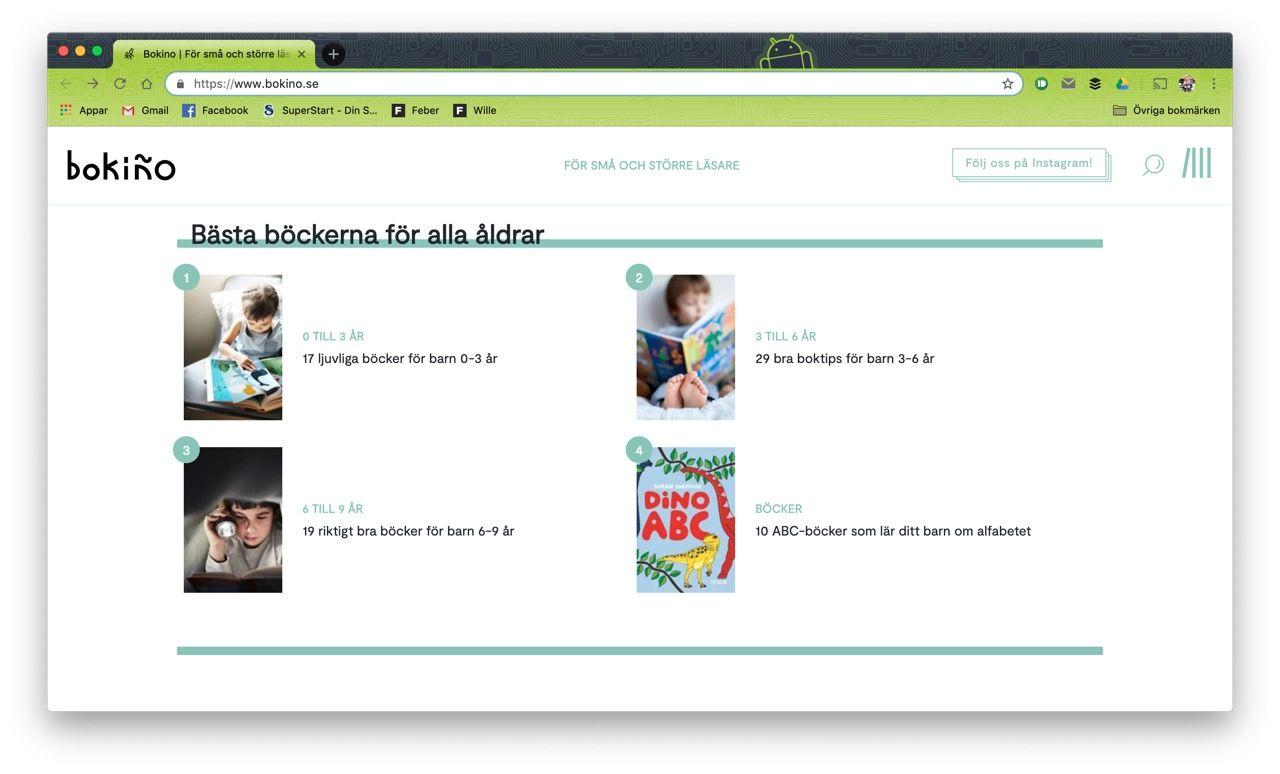 Bokiño är en ny sajt för barnböcker
