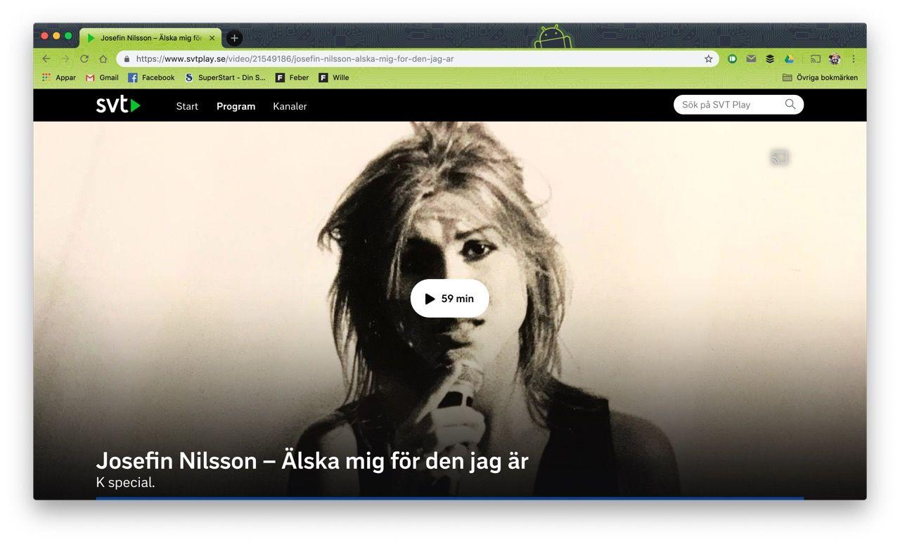 Josefin Nilsson-dokumentär slog tittarrekord på SVT Play