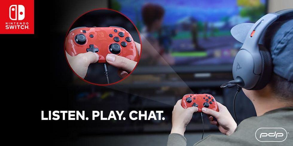Nu kommer handkontroll med hörlursingång till Nintendo Switch