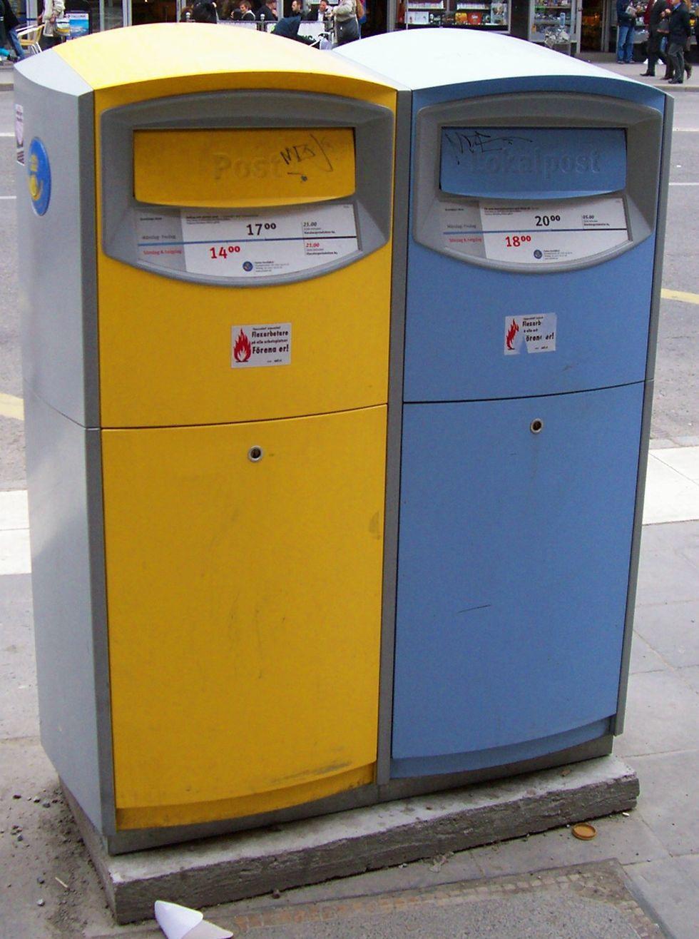 töms postlådor på söndagar