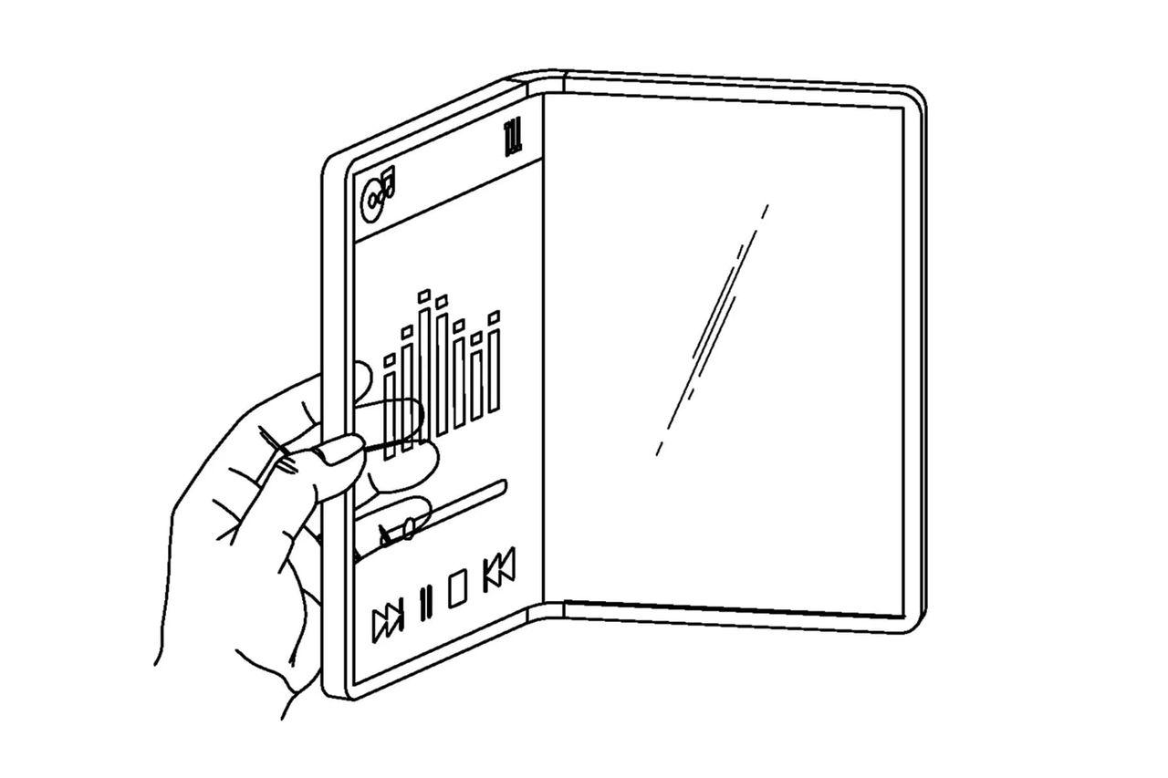 LG får patent på en vikbar telefon med genomskinlig skärm