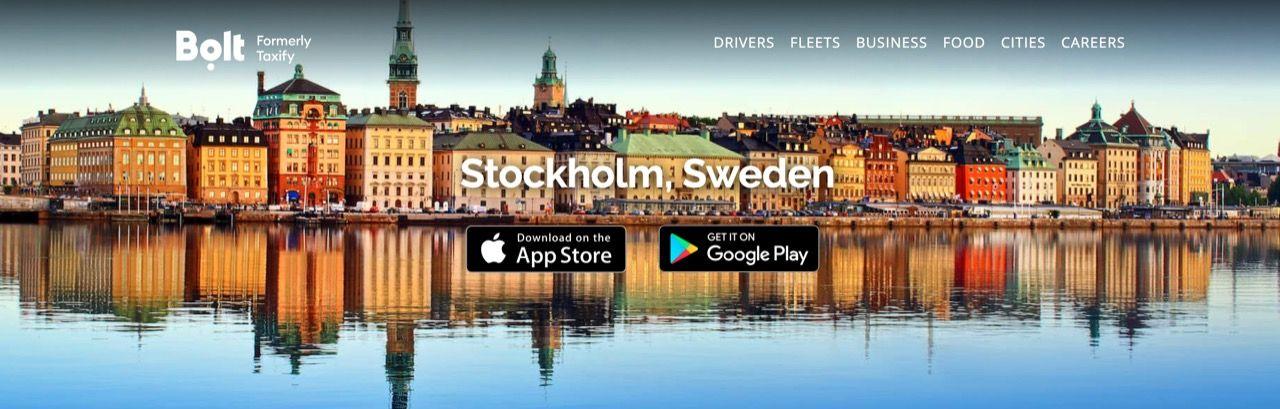 Taxitjänsten Bolt kommer till Sverige