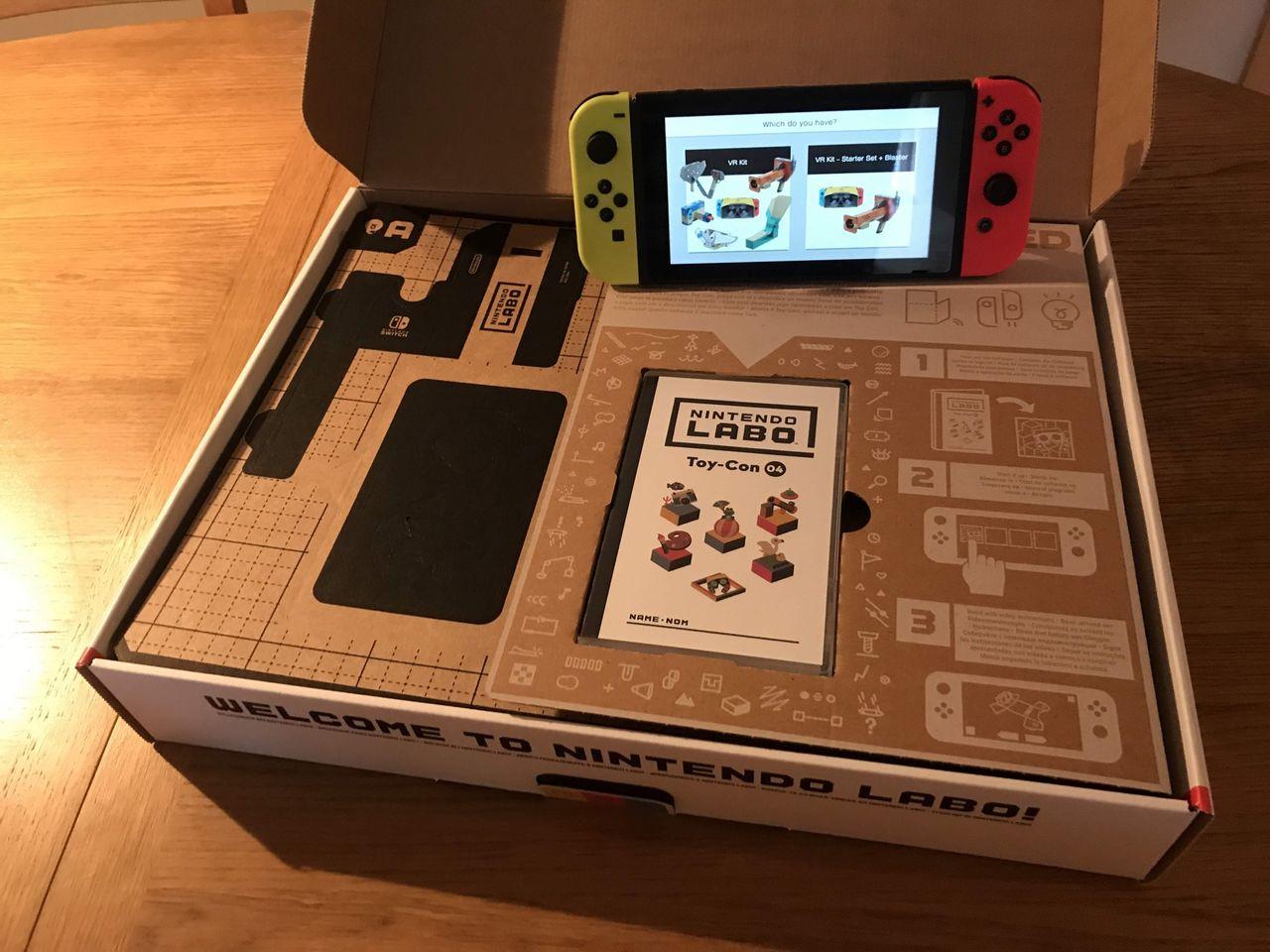 En första titt på Nintendo Labo VR Kit