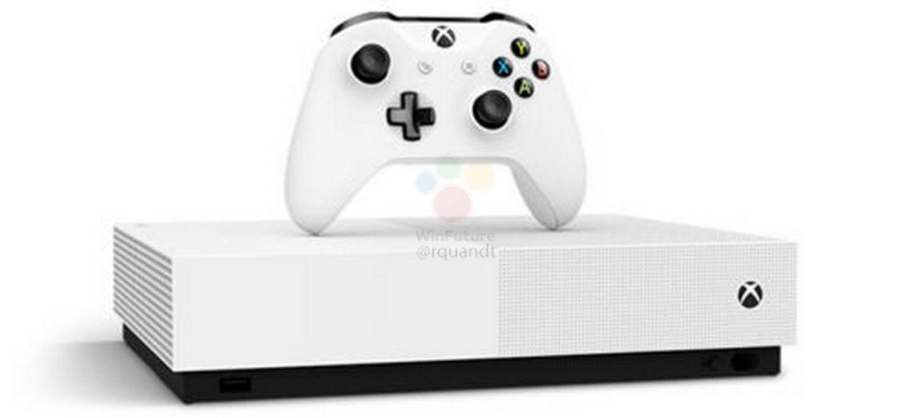 Bildläcka visar skivläsarlösa Xbox One S
