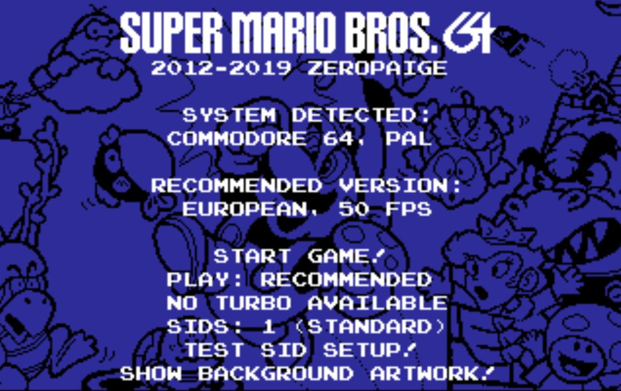 Super Mario Bros. portat till Commodore 64