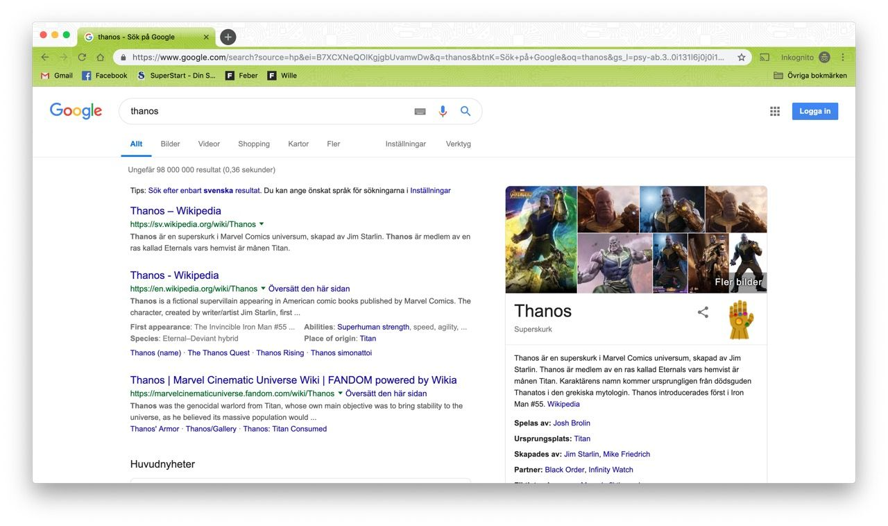 Google kör påskägg med Avengers: Endgame