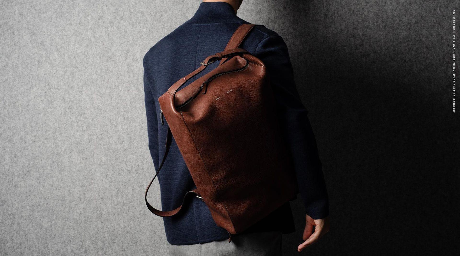 Snygg ryggsäck i läder