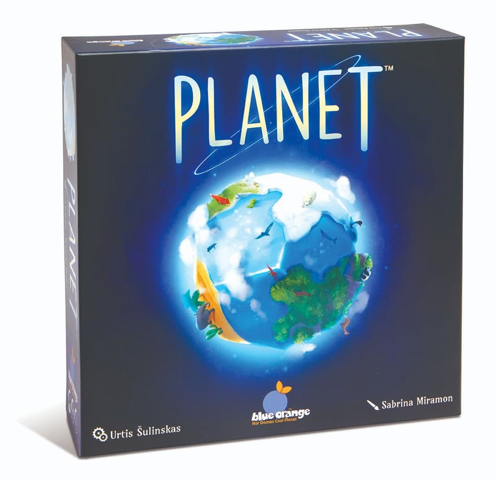 Bygg den perfekta planeten med brädspelet Planet