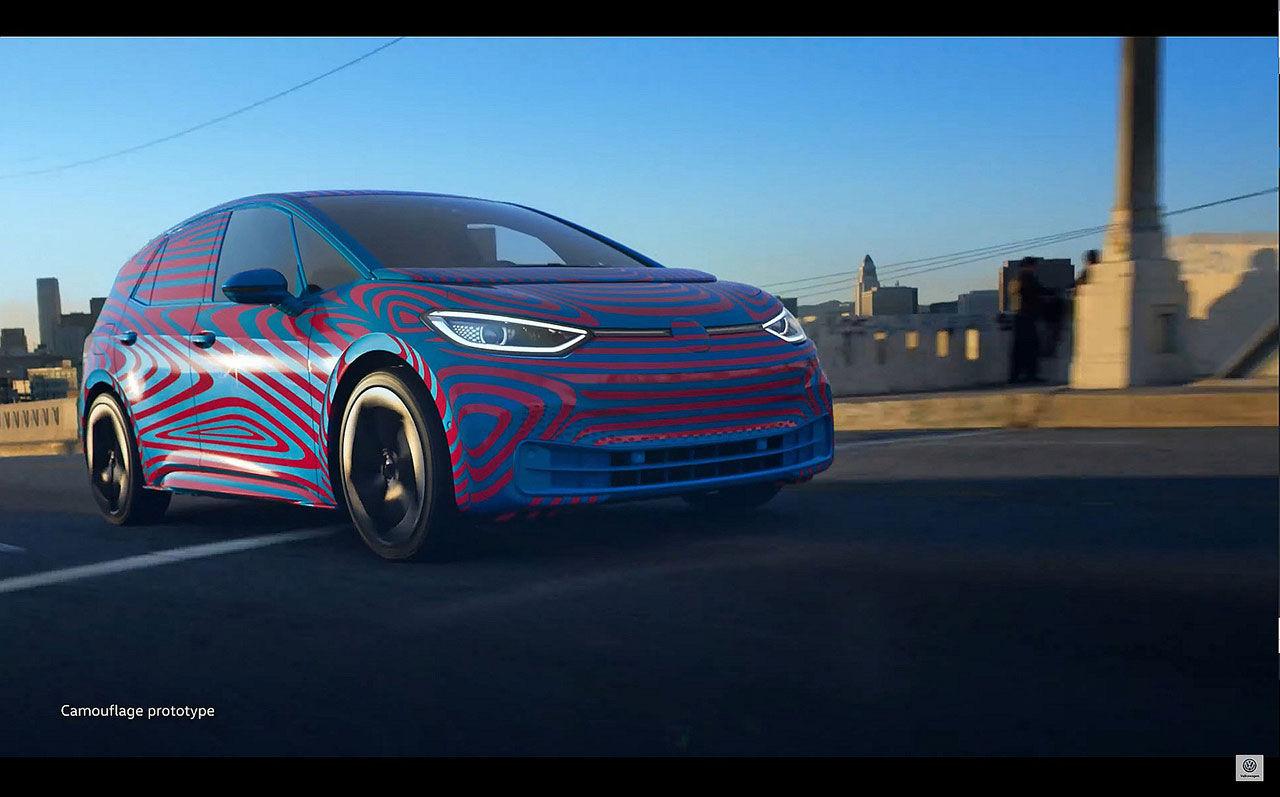 Volkswagens nya elbil med väldigt lite maskering