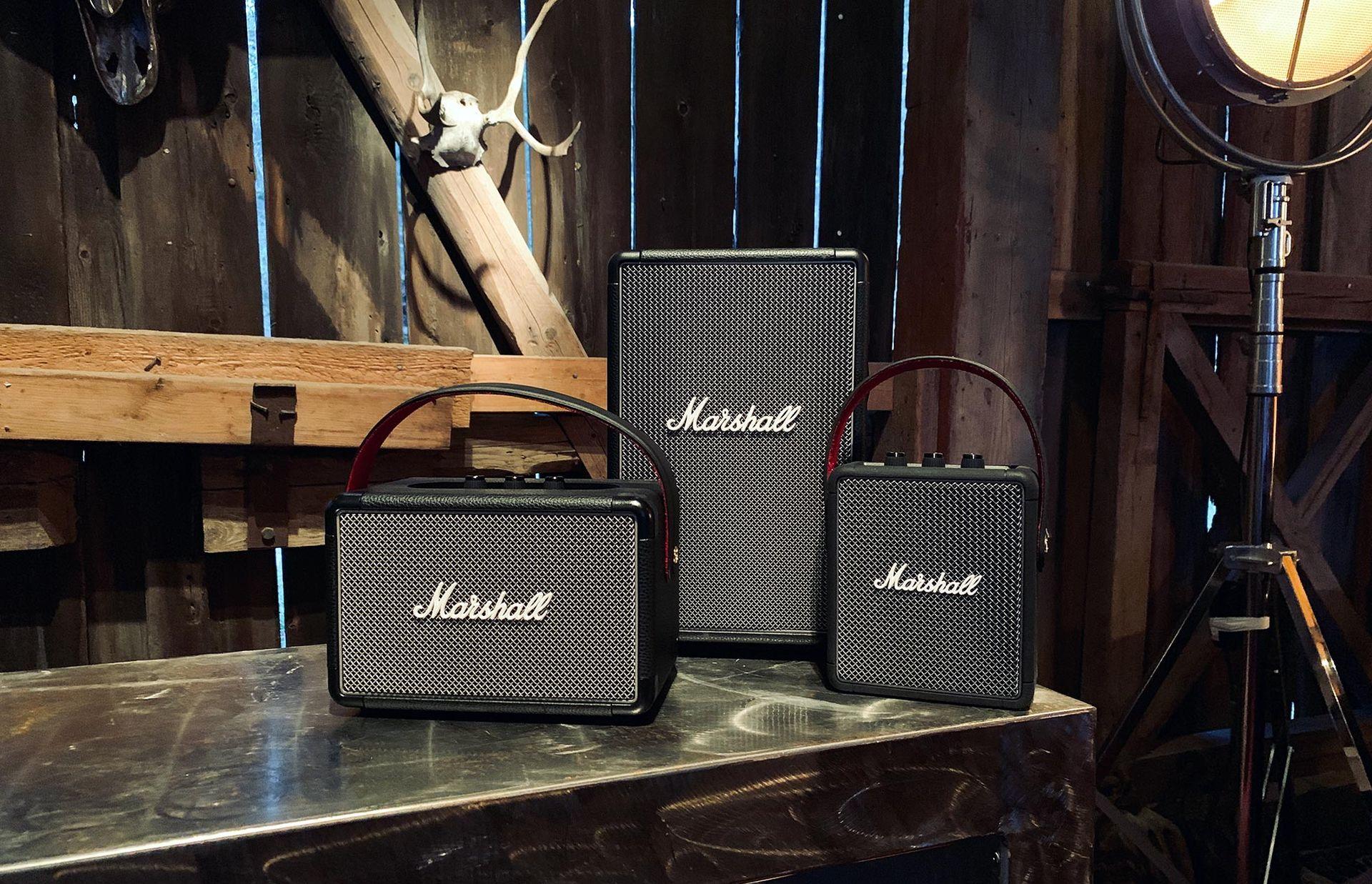 Marshall har nu tre bärbara högtalare