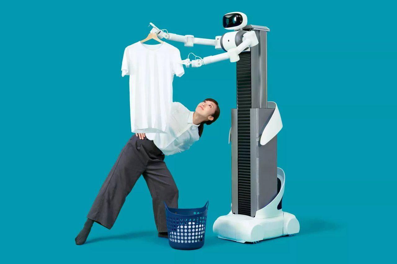 Roboten Ugo hjälper dig med tvätten